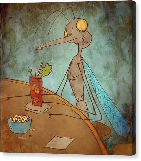Bloody Mary Canvas Print - Bloody Mary Mosquito by Jack Myers