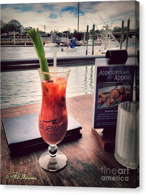 Bloody Mary Canvas Print - Bloody Mary With A View by Phil Mancuso