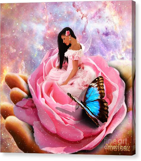 Bloom In The Hand Of The Father Canvas Print