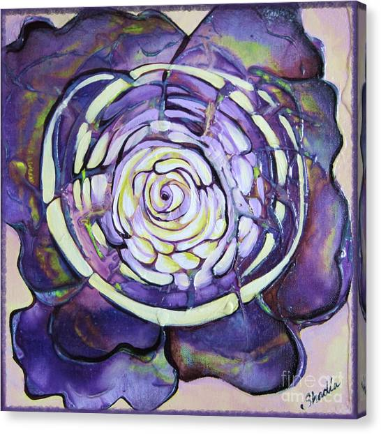 Organic Canvas Print - Bloom Iv by Shadia Derbyshire