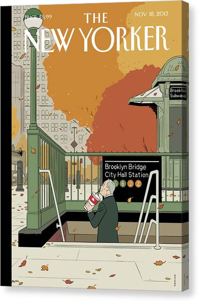 2013 Canvas Print - Last Straw by Adrian Tomine