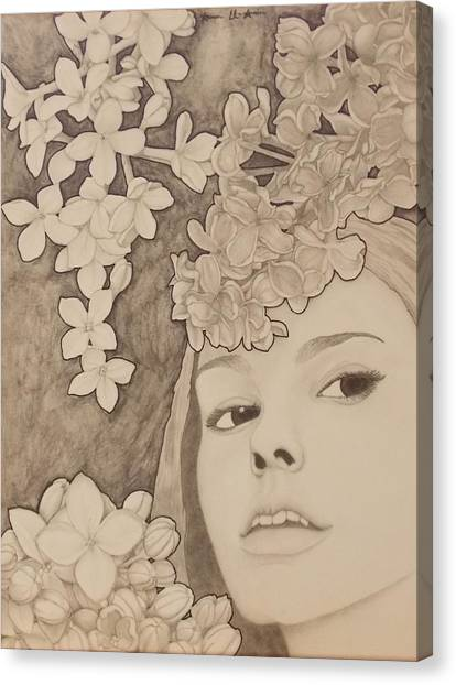 Blooming Girl Lilac  Refined Canvas Print
