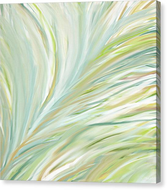 Spinach Canvas Print - Blooming Grass by Lourry Legarde