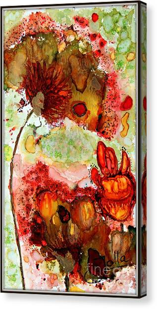 Blooming Impressions.. Canvas Print
