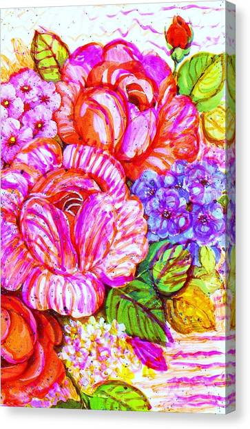 Canvas Print - Blooming Love For Thee by Anne-Elizabeth Whiteway