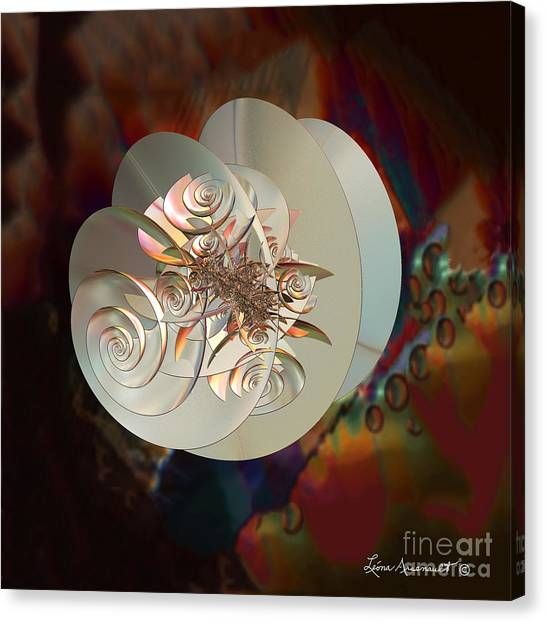 Blooming Spiral Canvas Print
