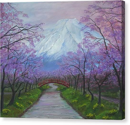 Blooms Of Fuji  Canvas Print