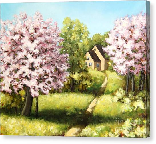Blossoming Orchard Canvas Print