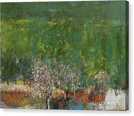 Canvas Print - Blossoming Tree In The Garden by Grigor Malinov