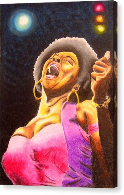 Blow Sister Blow Canvas Print by William Bryant