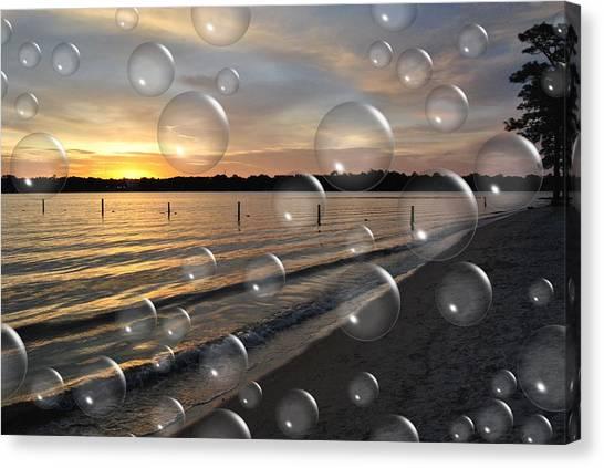 Blowing Bubbles Canvas Print