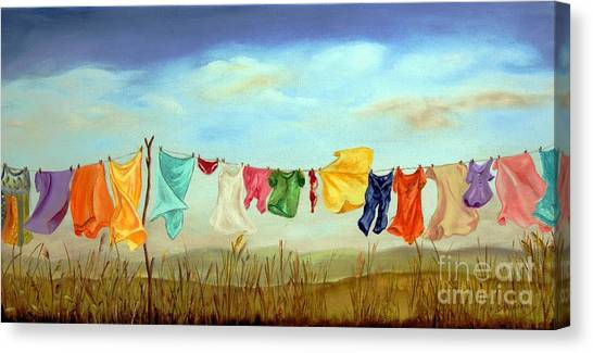 Blowing In The Breeze Canvas Print