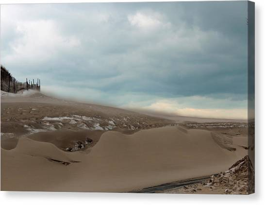 Blowing Sand Canvas Print