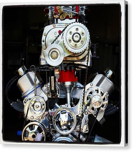 Racing Canvas Print - Blown 351 Small Block Ford. Somehow by Borowski Race