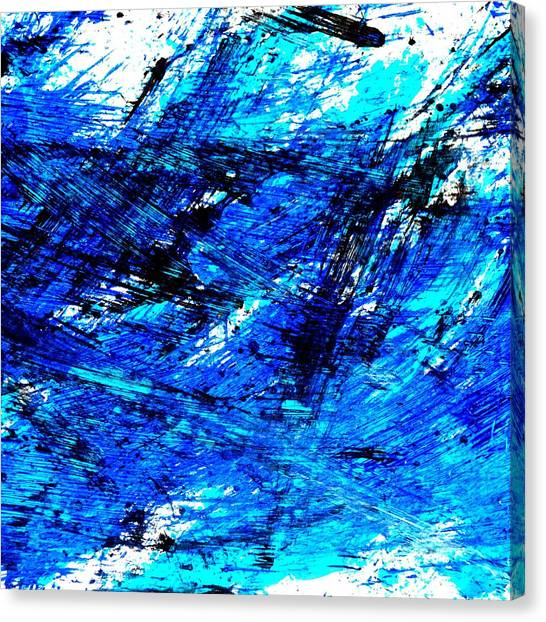 Supplies Canvas Print - Blu Abstract 4 by Jason Michael Roust