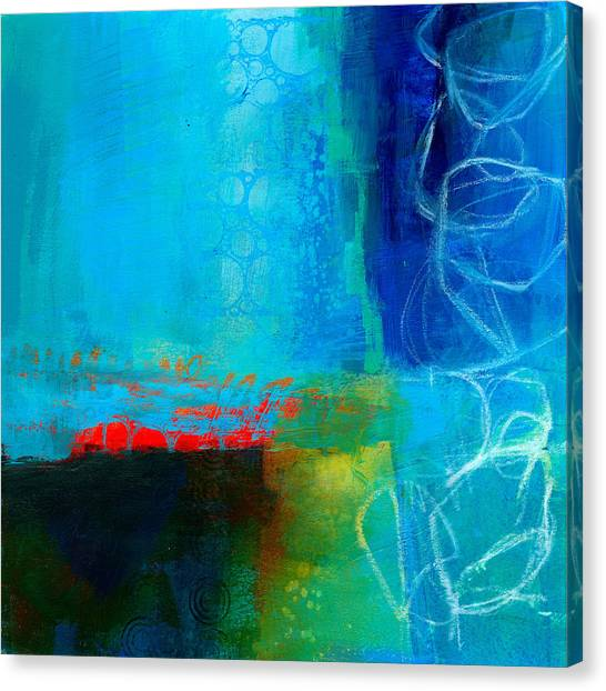 Acrylic Canvas Print - Blue #2 by Jane Davies