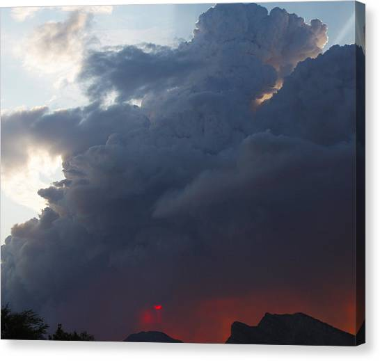 Blue Above Red Below Canvas Print