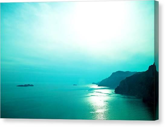 Blue Amalfi Sea Canvas Print