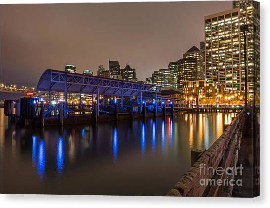 Canvas Print featuring the photograph Blue And Gold Night by Kate Brown