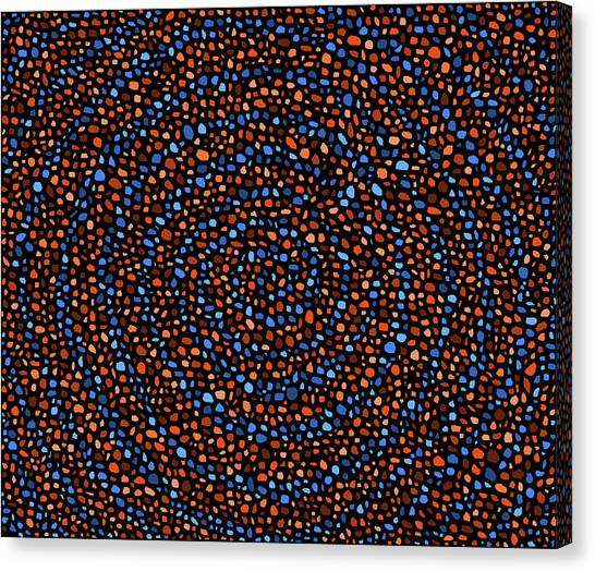 Blue And Orange Circles Canvas Print