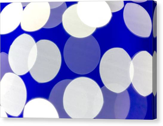 Blue And White Light Canvas Print