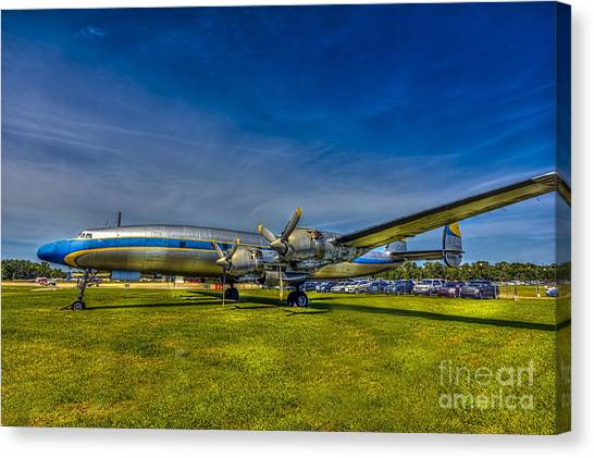Prop Planes Canvas Print - Blue And Yellow Connie by Marvin Spates