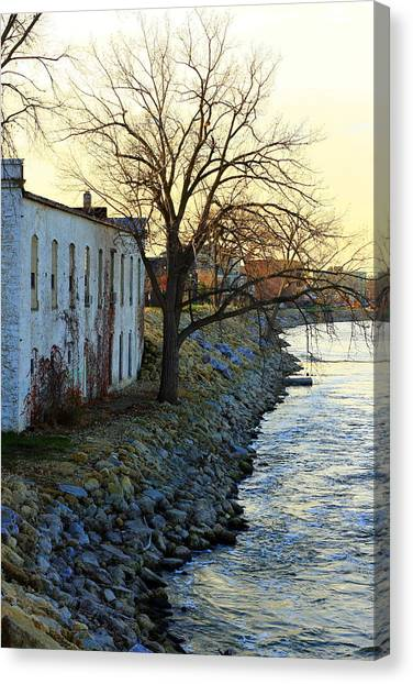 Blue And Yellow Morning Canvas Print