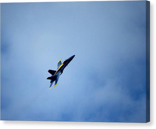 F16 Canvas Print - Blue Angel by Saya Studios
