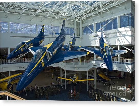 John Mccain Canvas Print - Blue Angels Auditorium 2 by Tim Mulina