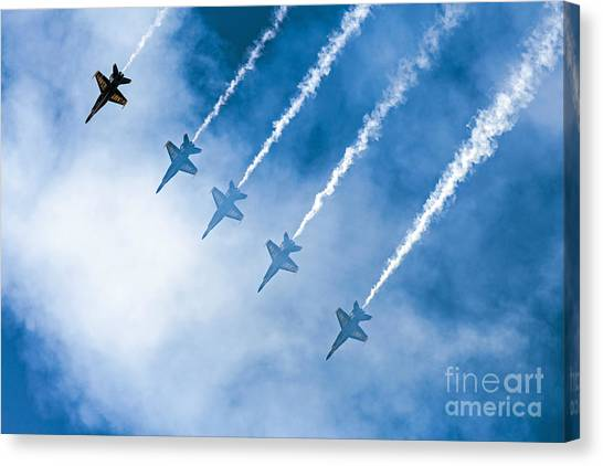 Canvas Print featuring the photograph Blue Angels by Kate Brown