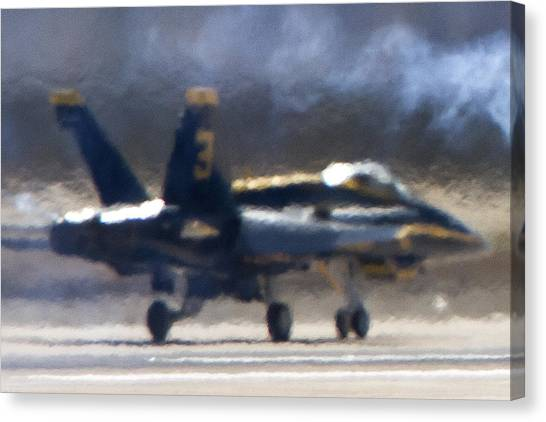 Blue Angels Number 3 On The Runway Canvas Print