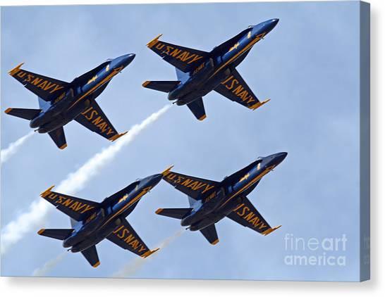Blue Angels Over Colorado Canvas Print
