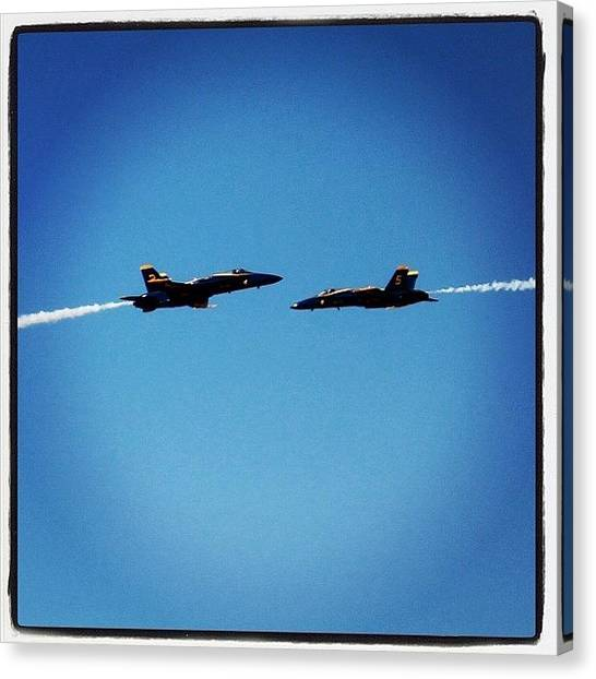 Jets Canvas Print - blue Angels Playing by Tyler Schuh