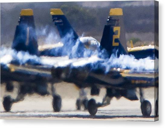 Blue Angels Ready For Takeoff Canvas Print
