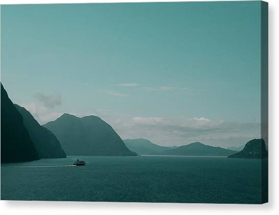 Blue As Fjord Canvas Print