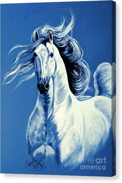 Blue Attitude Canvas Print