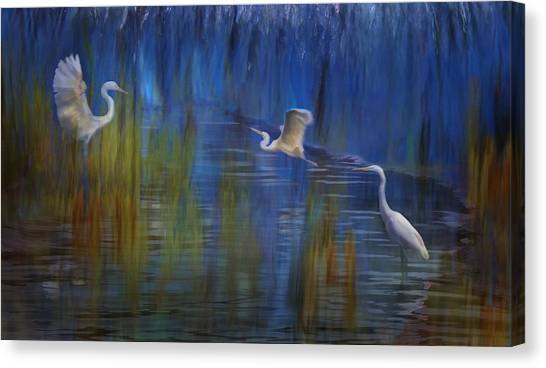 Canvas Print featuring the photograph Blue Bayou II by Melinda Hughes-Berland