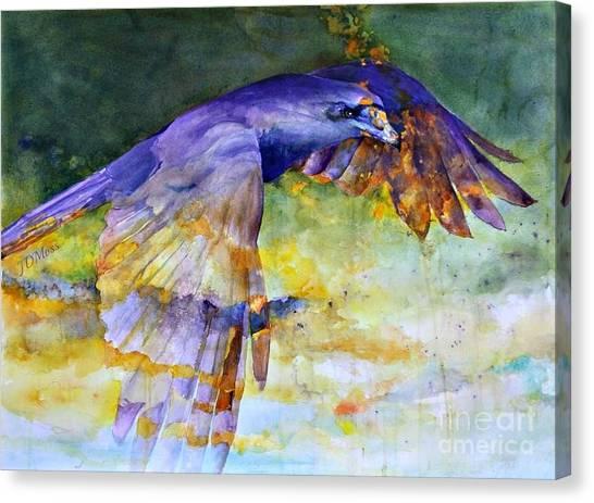 Blue Bird Canvas Print by Janet Moss