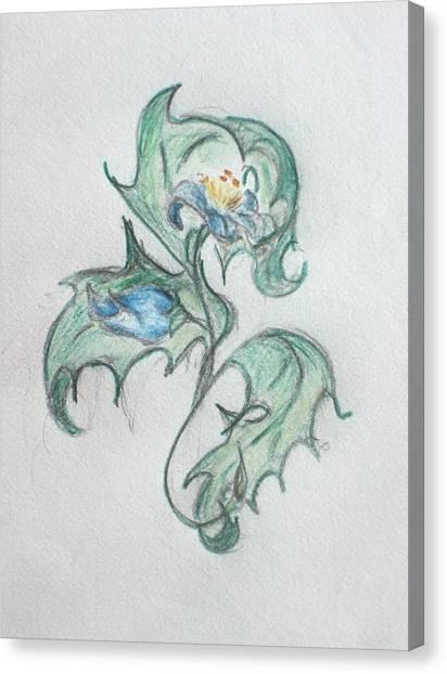 Blue Blossom 2 Canvas Print