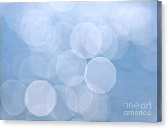 Abstraction Canvas Print - Blue Bokeh Background by Elena Elisseeva