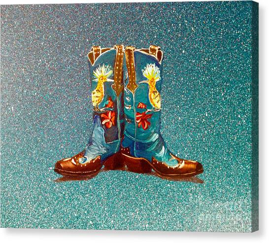 Blue Boots Canvas Print
