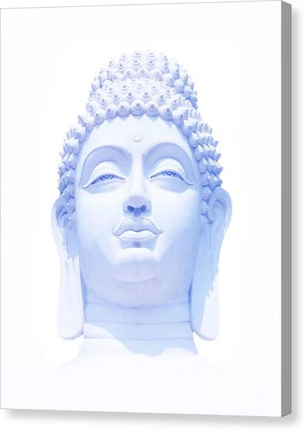 Buddha Canvas Print - Blue Buddha by Tim Gainey