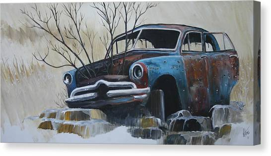 Blue Bullet Canvas Print by Gregory Peters