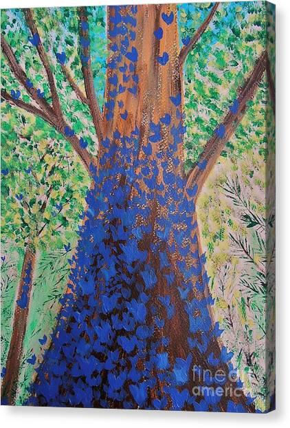Blue Butterflies Canvas Print
