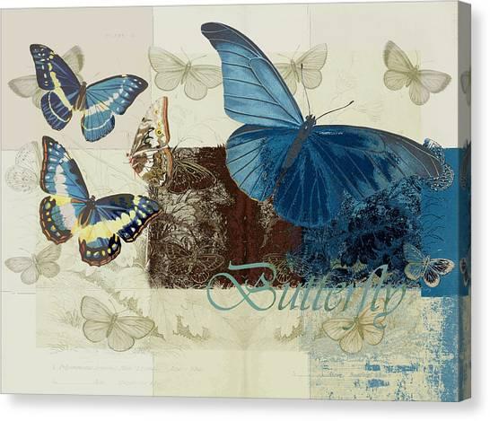 Blue Butterfly - J152164152-01 Canvas Print