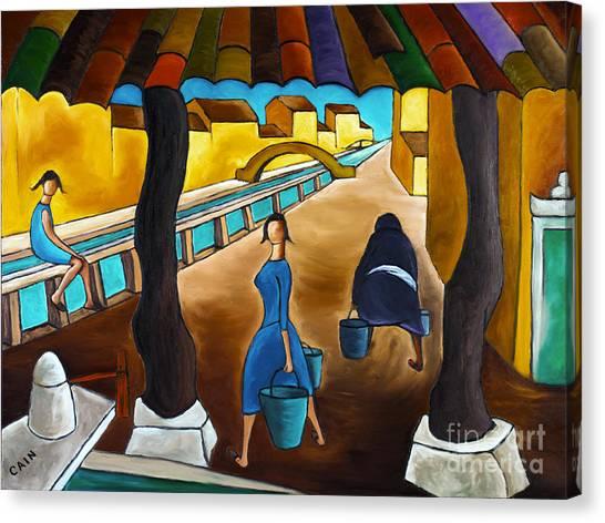 Blue Canal  Canvas Print