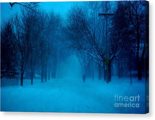 Blue Chicago Blizzard  Canvas Print