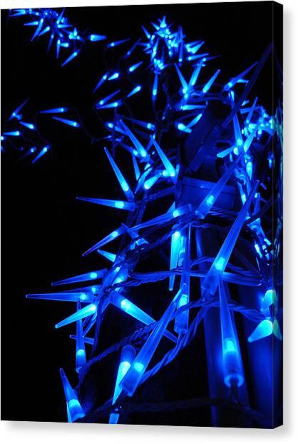 Blue Christmas Tree Canvas Print by Michel Mata