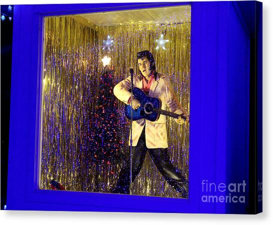 Blue Christmas Without Elvis Canvas Print