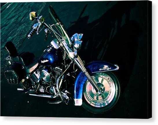 Scoot Canvas Print - Blue Chrome by Off The Beaten Path Photography - Andrew Alexander